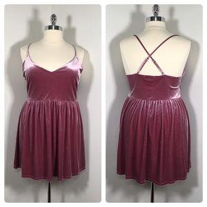 Forever 21 3X stretch velvet mini dress/top